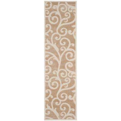 Cottage Light Beige/Cream 2 ft. x 8 ft. Indoor/Outdoor Runner Rug