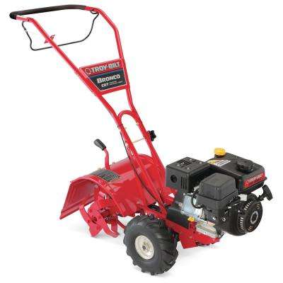 Bronco 14 in. 208 cc OHV Engine Rear-Tine Counter-Rotating Gas Tiller with One Hand Operation