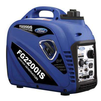 2,200/2,000-Watt Gasoline Powered Recoil Start Portable Inverter Generator with 80 cc Ducar Engine