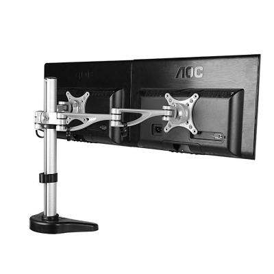 Dual Monitor Arm Desk Mounts LCD Stand for 10 in. - 27 in. Flat Screens Supports up to 17.6 lbs. Per Monitor