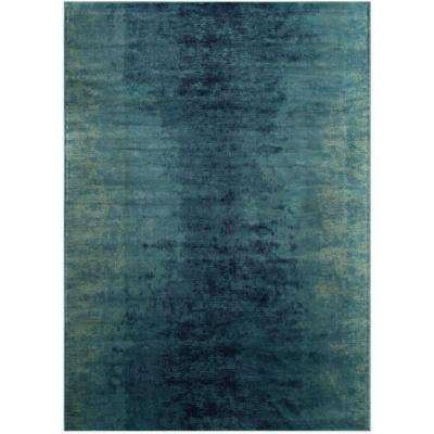 Vintage Turquoise Multi 7 Ft X 10 Area Rug