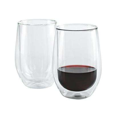 12 oz. Steady-Temp Double Wall Cabernet Stemless Wine Glasses