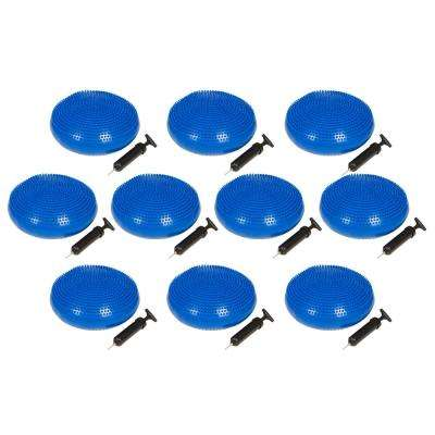 13 in. Dia PVC Fitness and Balance Disc, Blue (Set of 10)