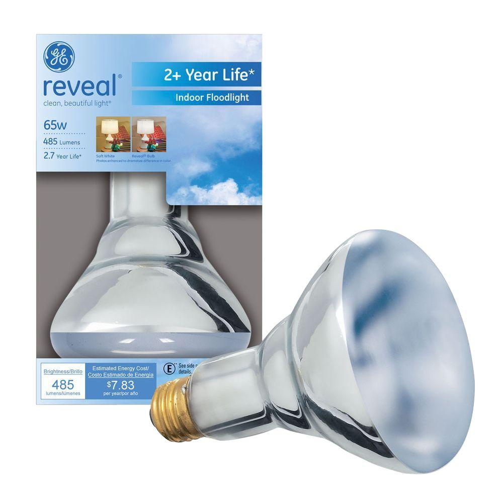 GE Reveal 65-Watt Halogen BR30 Flood Light Bulb-65BR30/H/RVL-TP ...