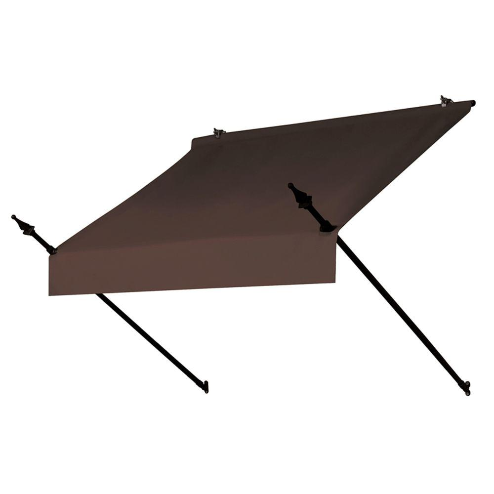 4 ft. Designer Manually Retractable Awning (36.5 in. Projection) in Cocoa