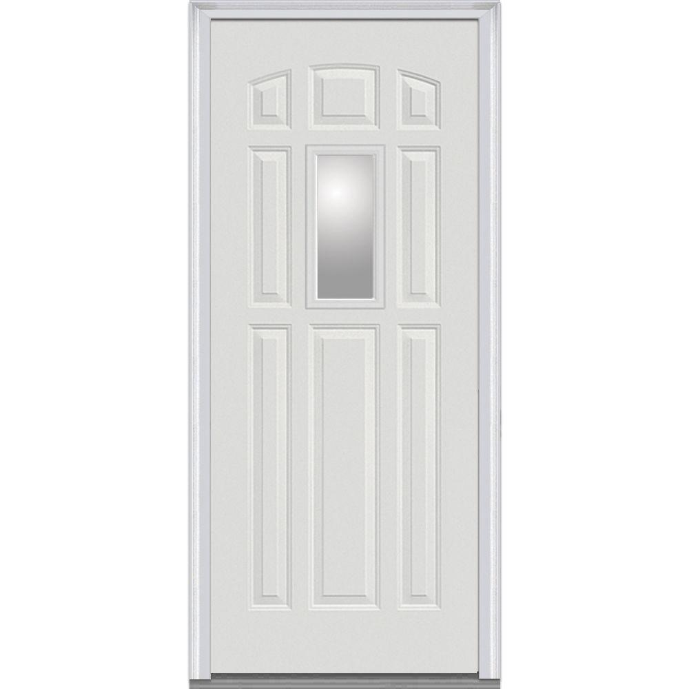 36 in. x 80 in. Clear Left-Hand 1/4 Lite 8-Panel Classic