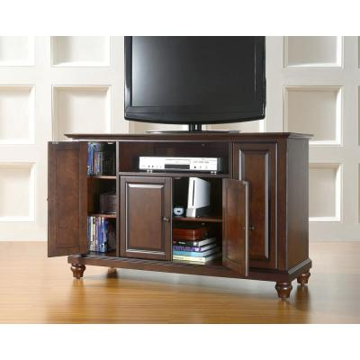 Cambridge 48 in. Mahogany Particle Board TV Stand Fits TVs Up to 50 in. with Storage Doors