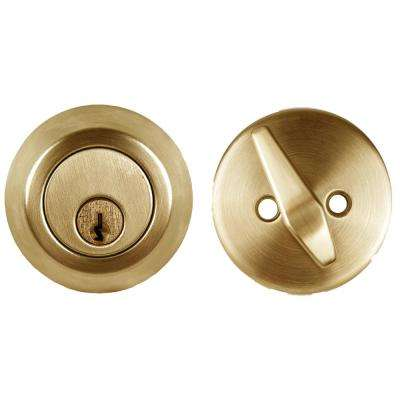 Light Duty Bright Brass Cylindrical Entry Function Weiser Keyway, Knob and Deadbolt
