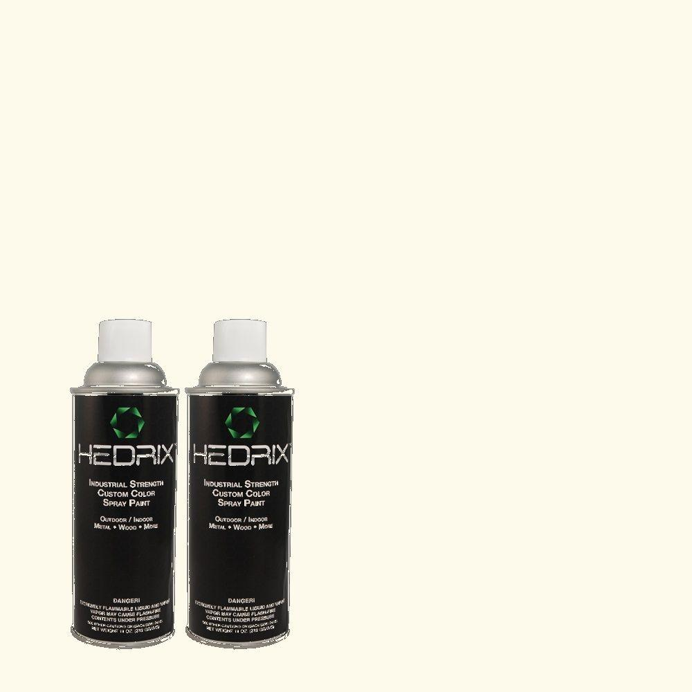 Hedrix 11 oz. Match of CH-10 Handkerchief Flat Custom Spray Paint (2-Pack)
