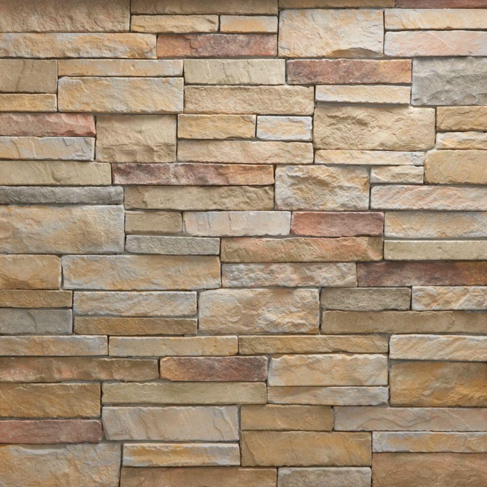 Veneerstone stacked stone mendocino flats 10 sq ft handy for Manufactured brick veneer