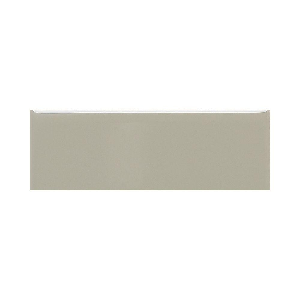 Modern Dimensions Gloss Architectural Gray 4-1/4 in. x 12 in. Ceramic