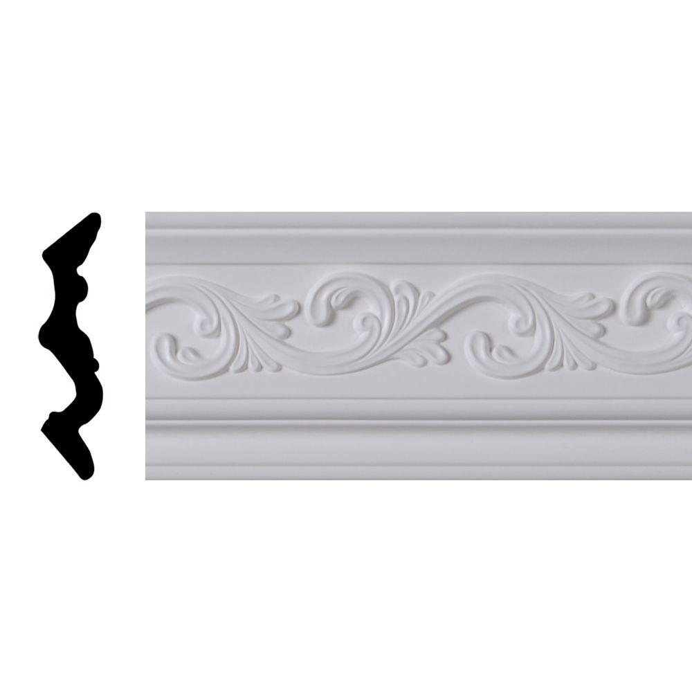 Lynea Molding Wave Collection 44401 7/8 in. D x 4-1/8 in. H x 8 ft. Composite Crown Moulding