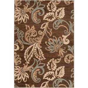 Artistic Weavers Ceratonia Chocolate 4 ft. x 5 ft. 5 inch Indoor Area Rug by Artistic Weavers