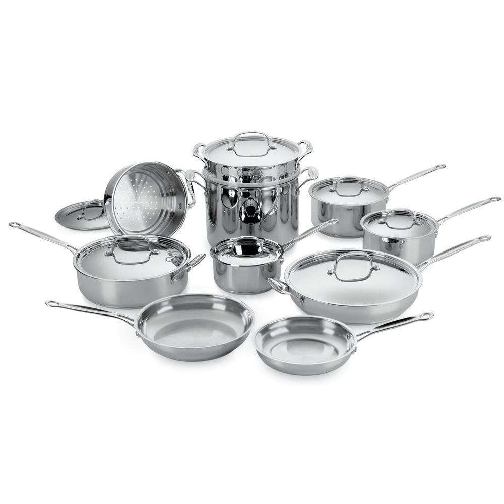 Cuisinart Chef's Classic 17 Pc. Stainless Cookware Set-DISCONTINUED