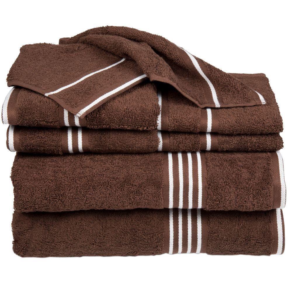 Rio Egyptian Cotton Towel Set in Chocolate (8-Piece)