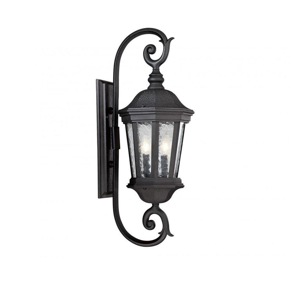 Led Outdoor Wall Lights Home Depot: Honeywell 1-Light Black Outdoor Intergrated LED Wall Mount