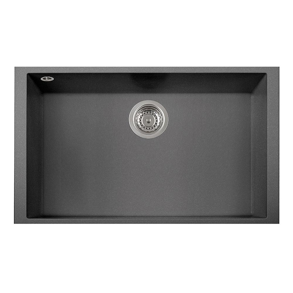 titanium kitchen sink latoscana one undermount granite composite 17 in single 2852