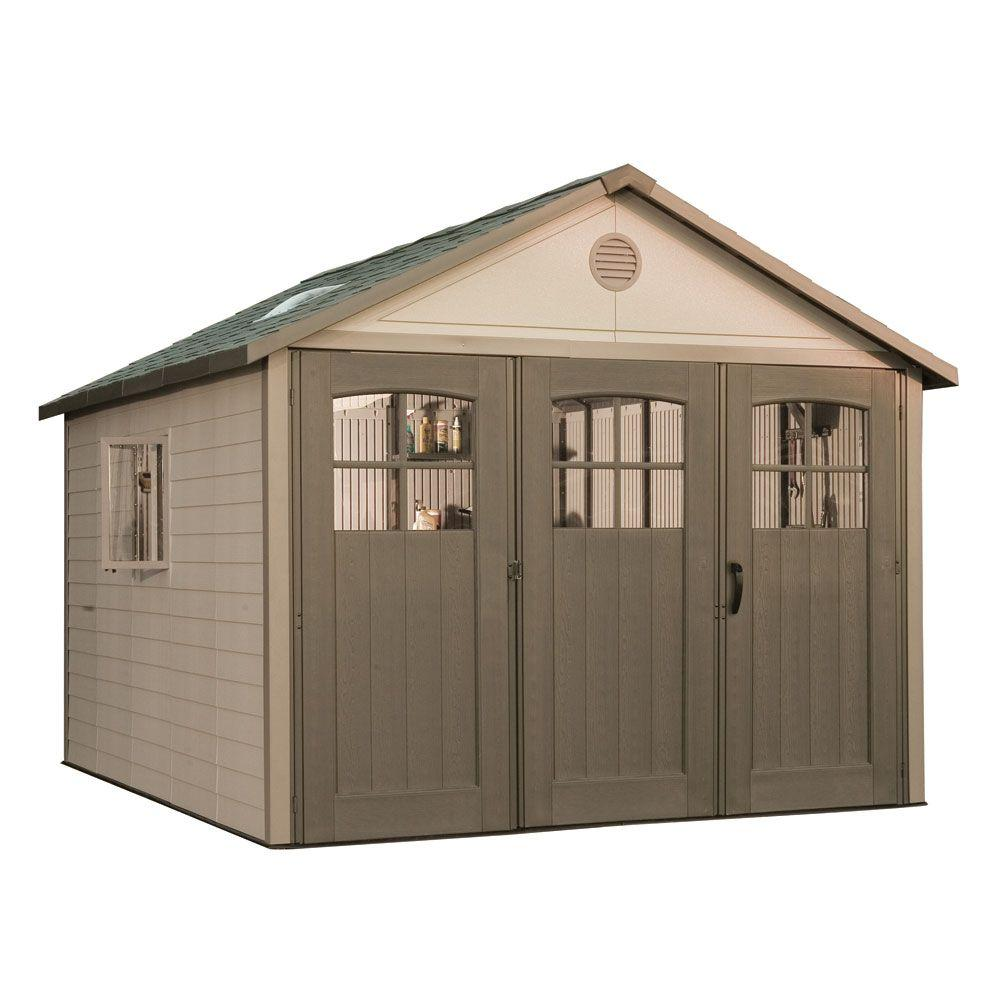 Lifetime 11 ft. x 11 ft. Storage Shed with 9 ft. Wide Carriage Door