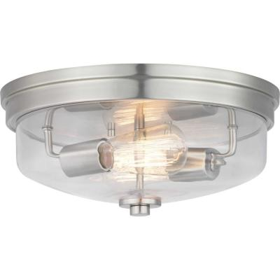 Blakely Collection Nickel 2-Light Flush Mount