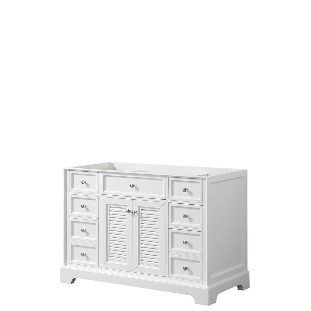 Tamara 48.5 in. Single Bathroom Vanity Cabinet Only in White