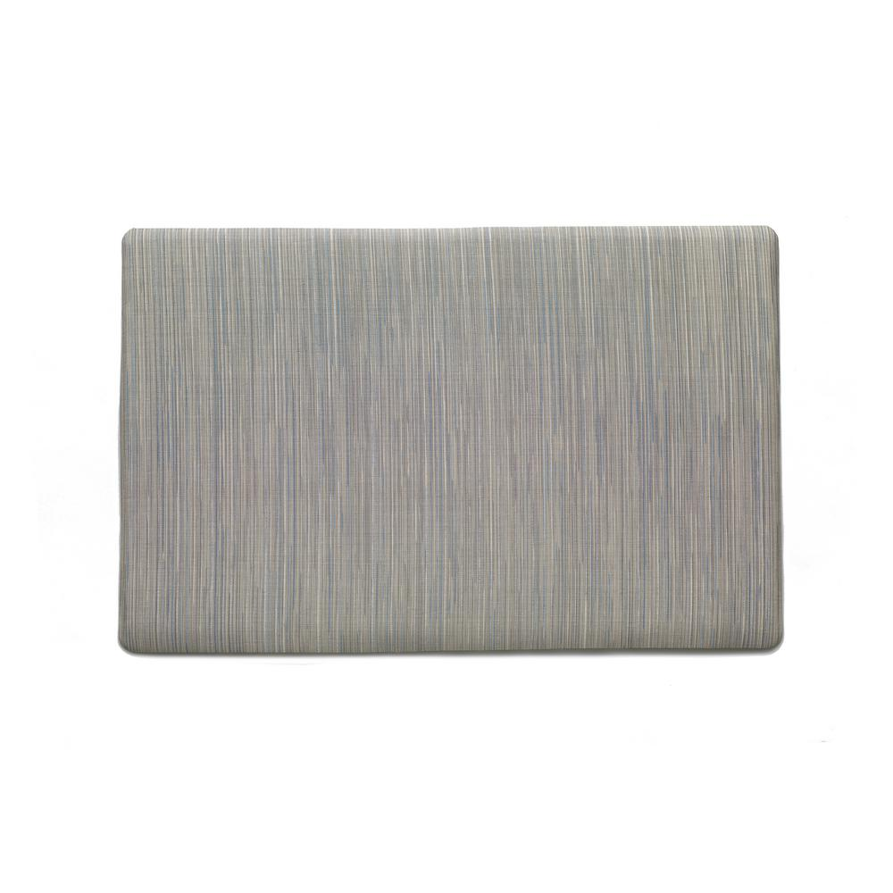 Gray/Blue 24 in. x 36 in. Woven Vinyl Comfort Mat