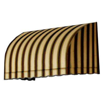 4 ft. Savannah Window/Entry Awning (44 in. H x 36 in. D) in Gray/Cream/Black Stripe