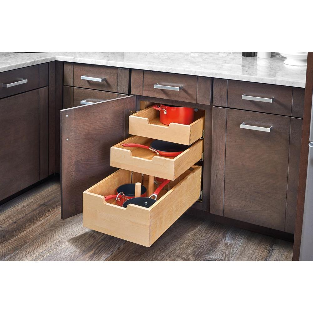 Rev A Shelf 19 In H X 14 75 In W X 22 In D Base Cabinet: Slide-A-Shelf Made-To-Fit 12 In. To 30 In. Wide
