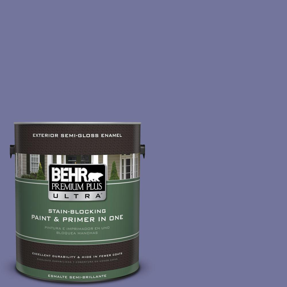 BEHR Premium Plus Ultra 1-gal. #630D-6 Palace Purple Semi-Gloss Enamel Exterior Paint