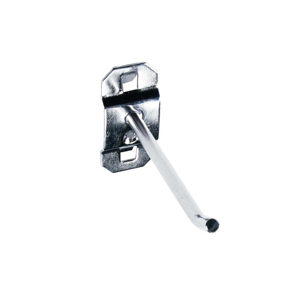 3 in. Single Rod 30 Bend Stainless Steel LocBoard Hooks (3-Pack)