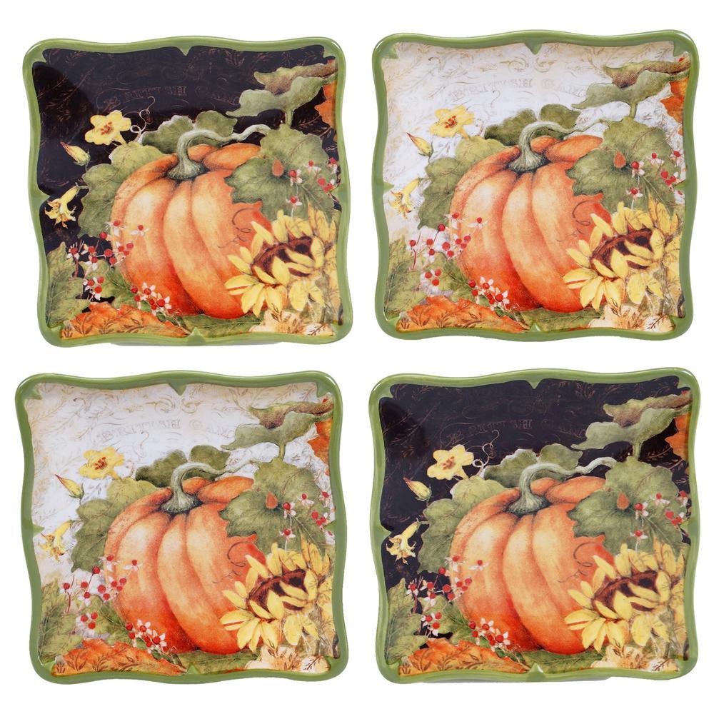 Botanical Harvest Canape Plate (Set of 4)