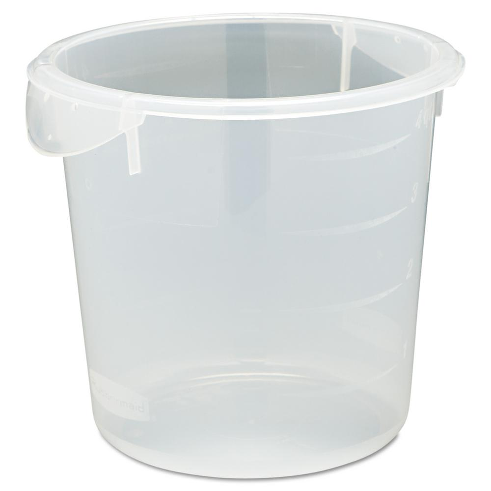 Rubbermaid Commercial Products 4 Qt. Clear Round Storage Container-RCP572124CLE