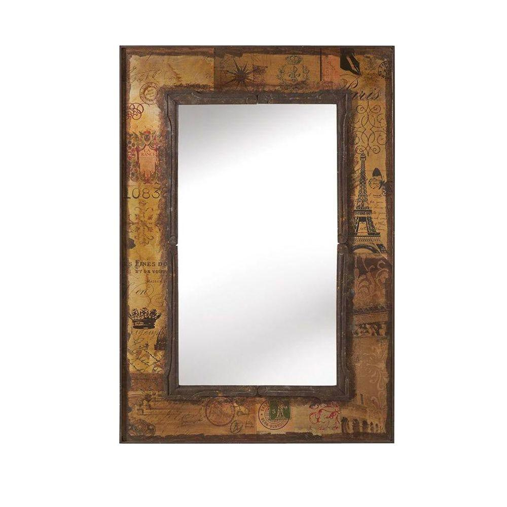 Home Decorators Collection Roshni 38 in. H x 26 in. W Multi Wood Framed Mirror