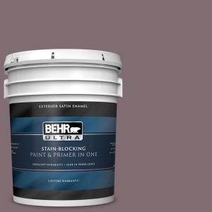 Behr Ultra 5 Gal N110 5 Royal Raisin Satin Enamel Exterior Paint And Primer In One 985305 The Home Depot
