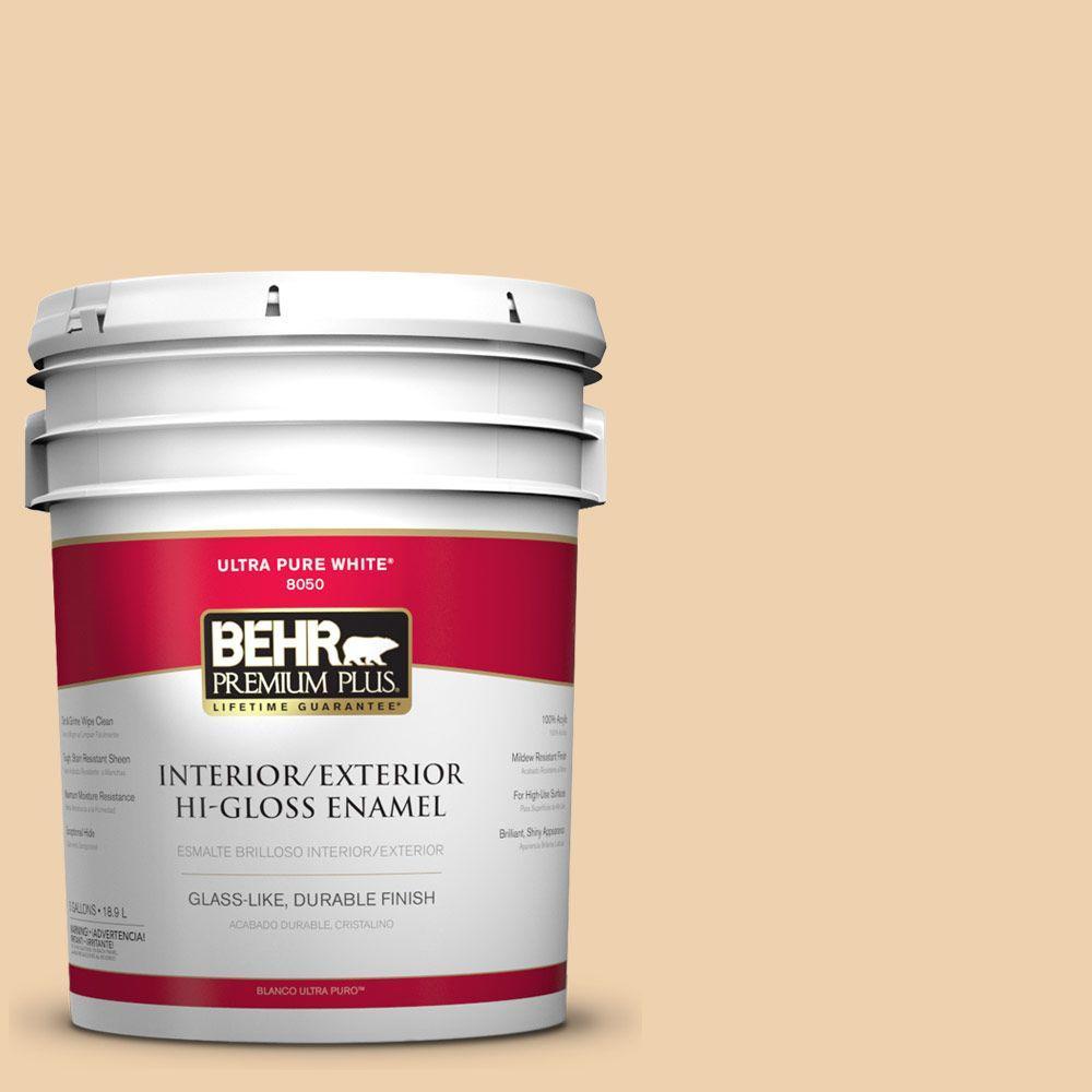 BEHR Premium Plus 5-gal. #300E-2 Calm Air Hi-Gloss Enamel Interior/Exterior Paint