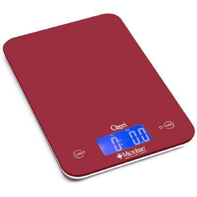 Touch II 18 lbs. Digital Kitchen Scale, with Microban Antimicrobial Product Protection
