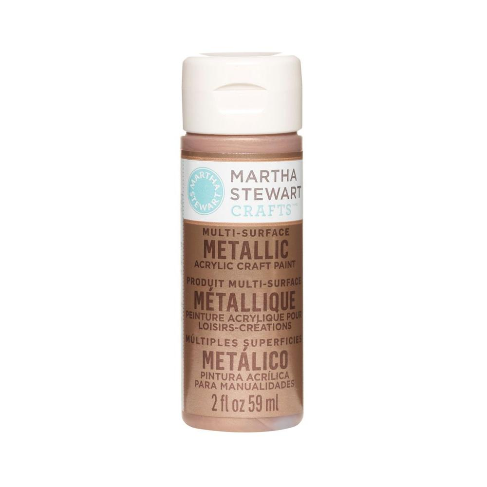 Martha Stewart Crafts 2-oz. Rose Copper Multi-Surface Metallic Acrylic Craft Paint