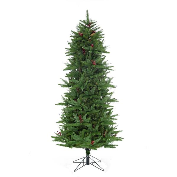 7.5 ft. Evergreen Berry Christmas Tree with Pinecones and Berries