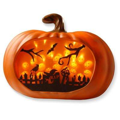 3d orange led pumpkin