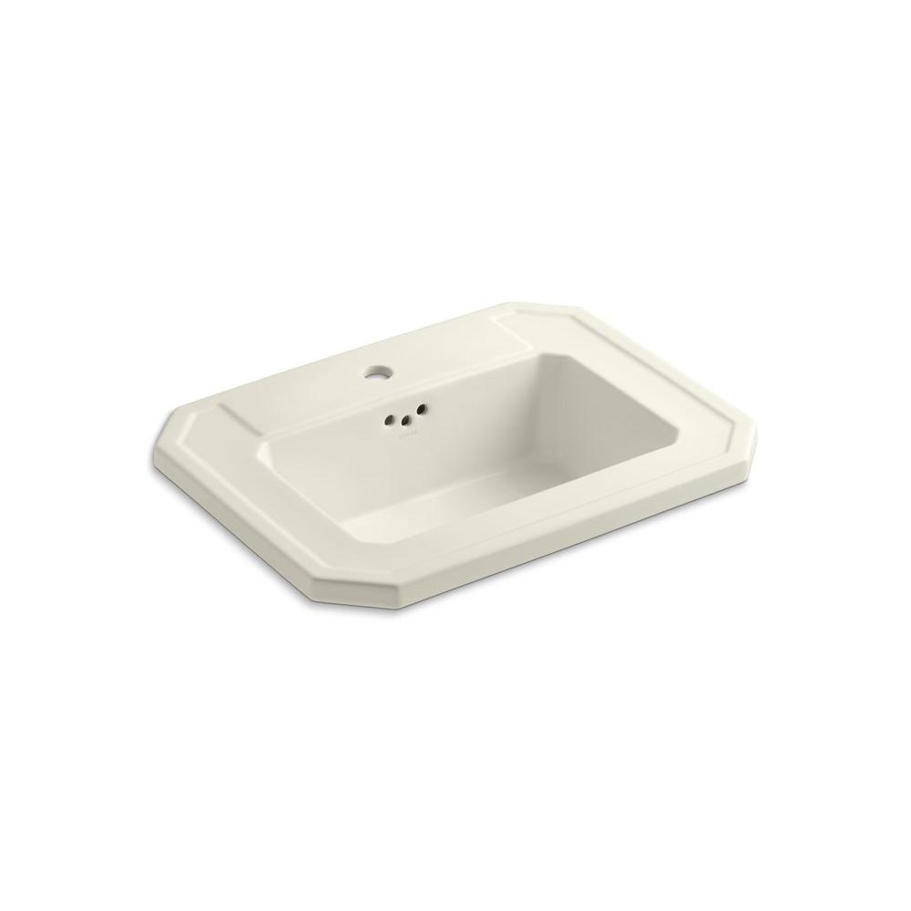 KOHLER Kathryn Drop-in Bathroom Sink in Biscuit
