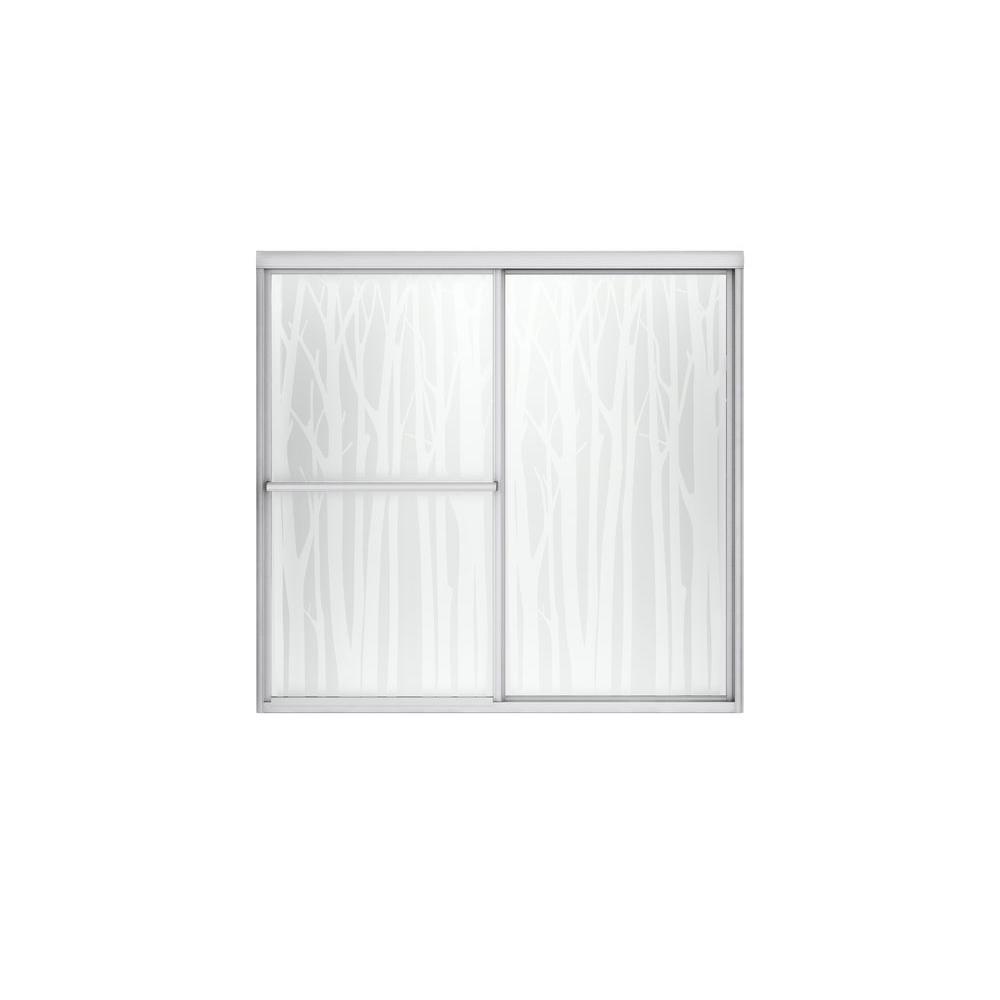 Deluxe 59-3/8 in. x 56-1/4 in. Framed Sliding Shower Door in