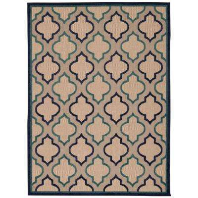 Aloha Navy 4 ft. x 6 ft. Indoor/Outdoor Area Rug