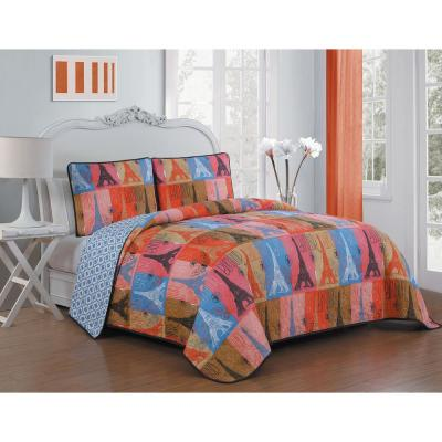 Cannes 3-Piece Multi Queen Quilt Set