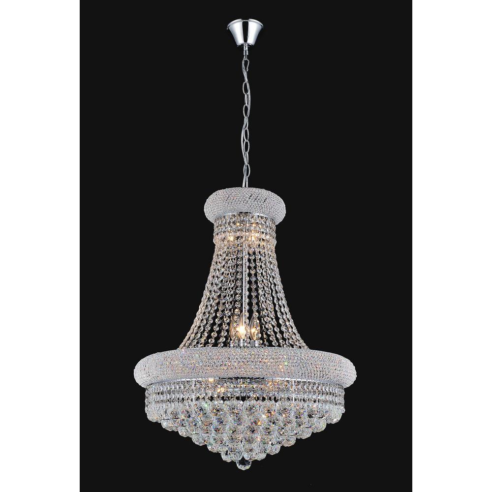 Empire 14-light chrome chandelier
