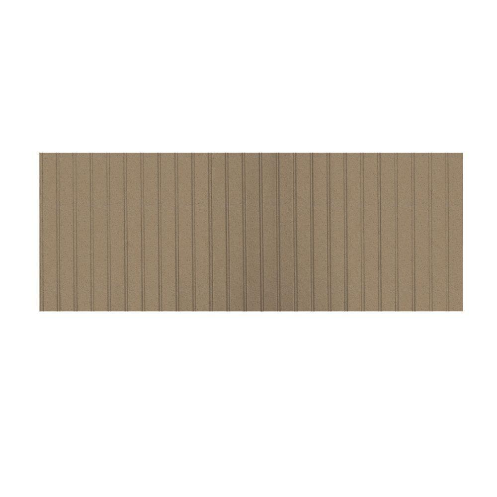 Swanstone 3 ft. x 8 ft. Beadboard One Piece Easy Up Adhesive Wainscot in Barley-DISCONTINUED