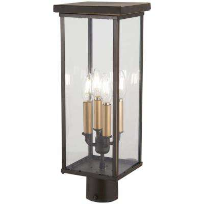 Casway 4-Light Outdoor Oil Rubbed Bronze Post Light