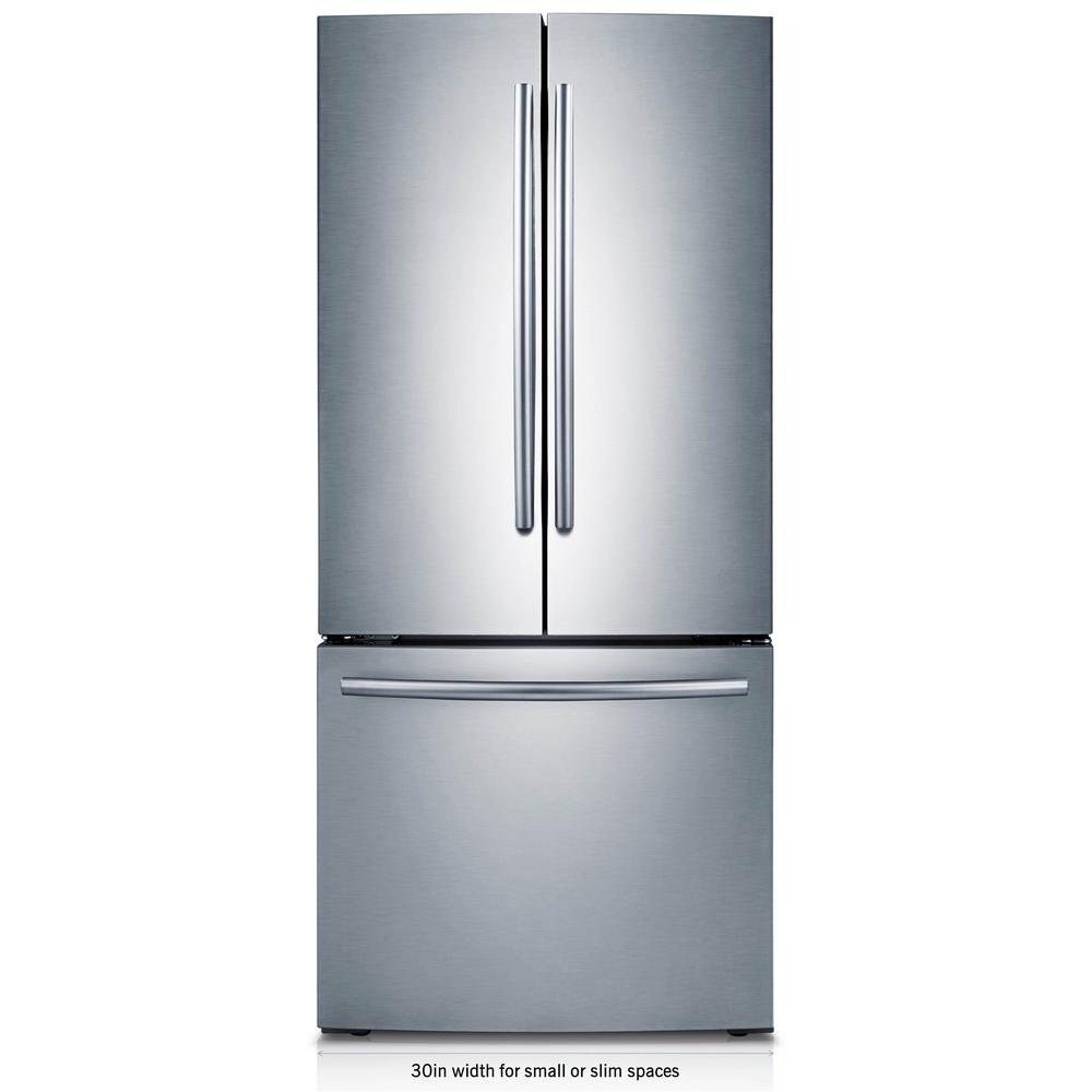 Samsung 30 In W 21 8 Cu Ft French Door Refrigerator Stainless Steel