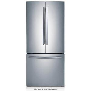 Samsung 30 inch W 21.8 cu. ft. French Door Refrigerator in Stainless Steel by Samsung
