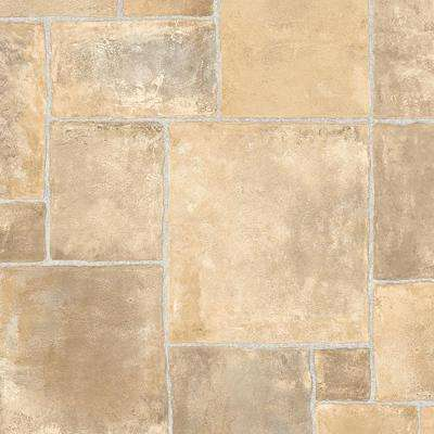 Regina Stone Neutral 13.2 ft. Wide x Your Choice Length Residential Vinyl Sheet Flooring