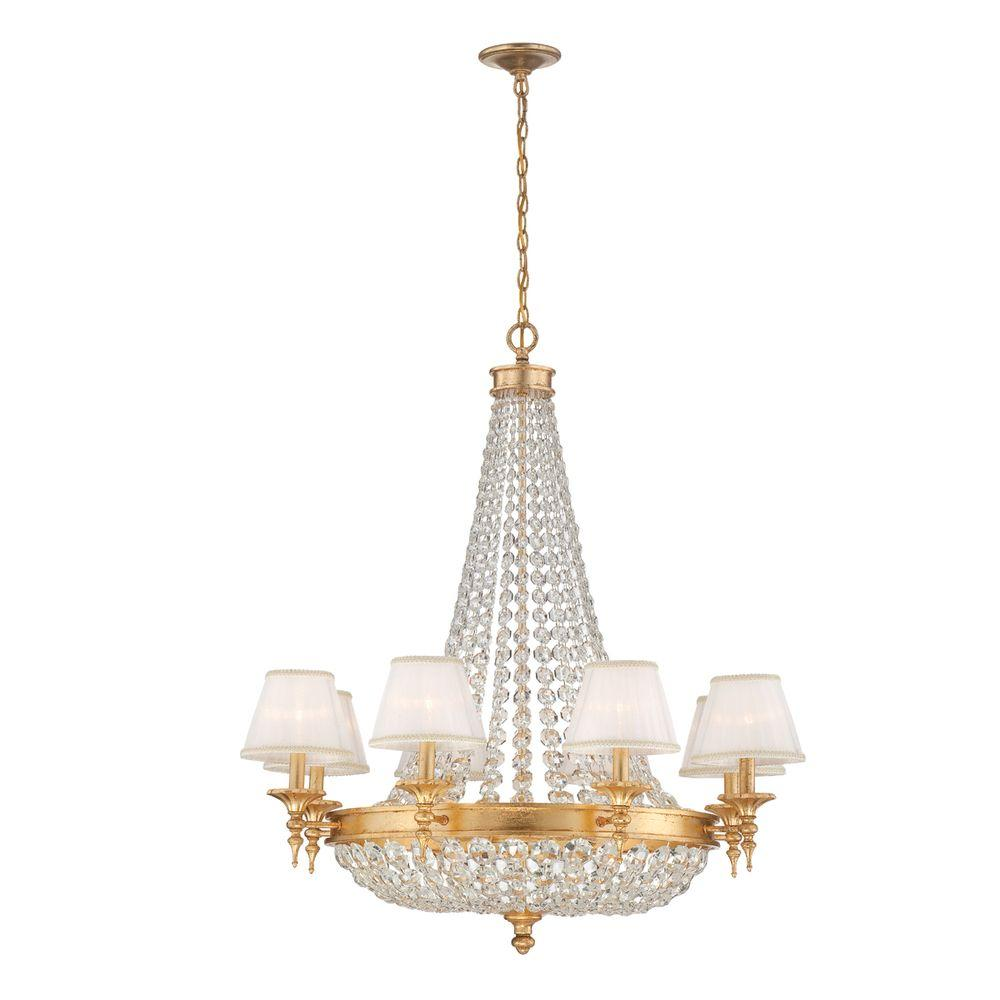 Eurofase Pietra Collection 12-Light Gold Chandelier