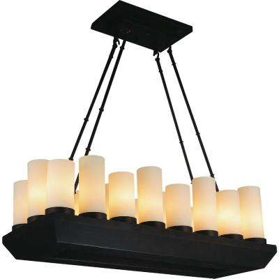 Danielle 18-Light Oil Rubbed Brown Chandelier with White shade